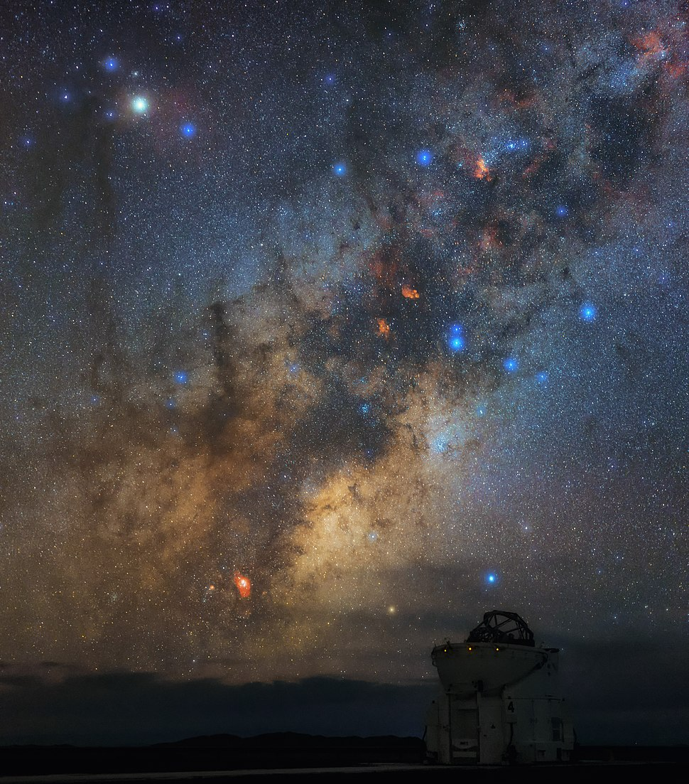 Antares overlooking an Auxiliary Telescope