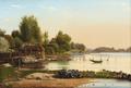 Anton Thorenfeld - Parti fra Svendborg Sund - 1859.png
