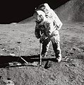 Apollo 15, Irwin Scoops up Soil.jpg
