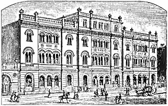 The Public Theater - A drawing of the Library published in 1900
