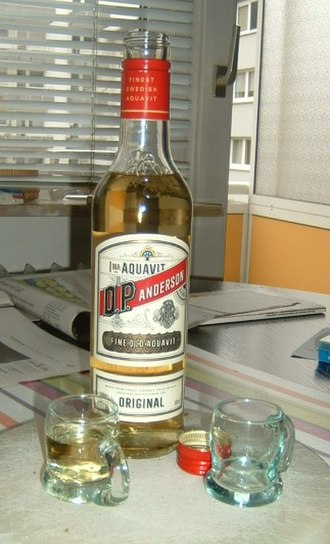 "Akvavit - A bottle of ""O.P. Anderson"", a Swedish Akvavit"