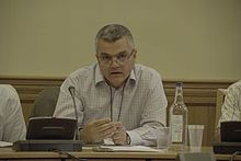 Ara Sarafian at a UK parliamentary event on Turkish politics.jpg