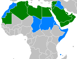 Map of the Arabic-speaking world