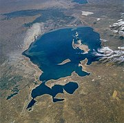 Aral Sea from space, August 1985