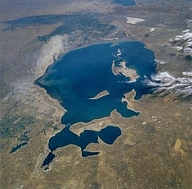 Aral sea 1985 from STS.jpg