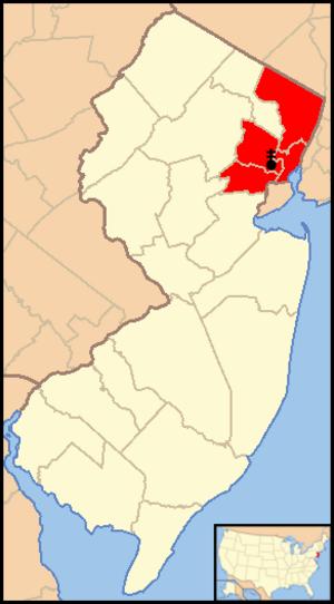 Roman Catholic Archdiocese of Newark - Image: Archdiocese of Newark map 1