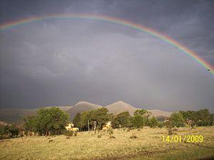 Español: Arco iris grutense