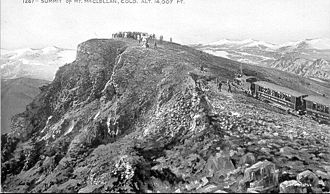 Argentine Central Railway - The Argentine Central Railway reached the summit of Mount McClellan