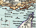 Ariaei Island (Sir Abu Nu'ayr) and Abumusa and great and lesser Tunbs are parts of Iranian territory in Iran and Turan Map by Adolf Stieler map in 19th century(before British occupation of Iranian islands).jpg