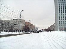 Архангельск. Улица Воскресенская. Вид с Троицкого проспекта.
