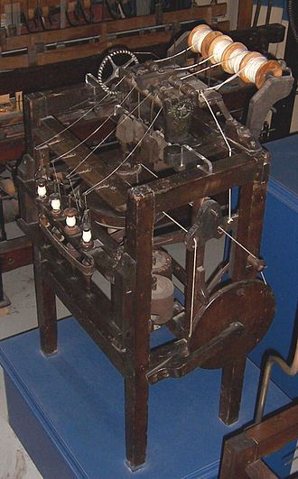 Richard Arkwright - An Arkwright water frame that was made in 1775.