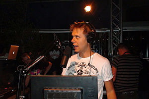 Armin van Buuren - Van Buuren broadcasting the milestone 500th episode of his A State of Trance show at the official pre-party, live from Club Trinity in Cape Town on 17 March 2011.
