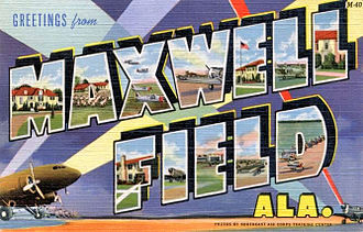 Maxwell Air Force Base - World War II Maxwell Field Postcard