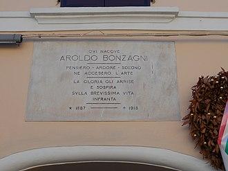 Aroldo Bonzagni - birthplace, Cento
