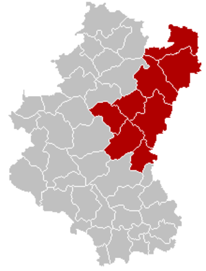 Arrondissement of Bastogne - Image: Arrondissement Bastogne Belgium Map