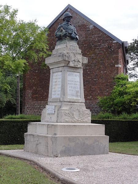 Artemps (Aisne) monument aux morts