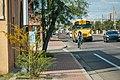 Arterial bike lane school bus (33839231705).jpg