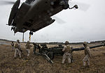 Artillery in the air, Landing support specialists test lift capabilities 140319-M-AR522-015.jpg