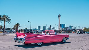 18b The Las Vegas Arts District - A Pink Cadillac in the Downtown Arts District.