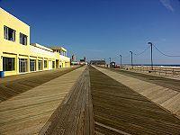 The boardwalk in Asbury Park