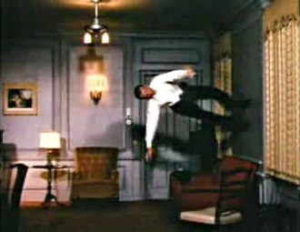Stanley Donen - Fred Astaire dances on the walls and ceiling in Royal Wedding, a special effect using a rotating reinforced-steel cylindrical chamber in which to film.