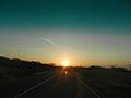 Atardecer en la carretera Falcón Zulia.JPG