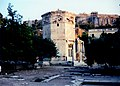 Athens August 1995 - Tower of the Winds and view towards Acropolis.jpg