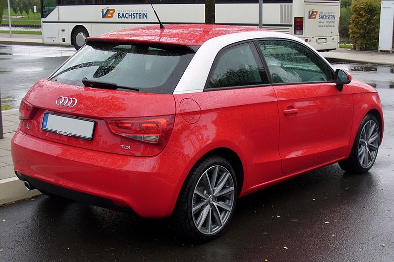 file audi a1 1 6 tdi ambition misanorot heck jpg wikipedia. Black Bedroom Furniture Sets. Home Design Ideas