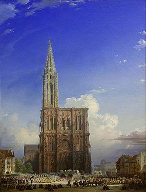 August von Bayer -  Das Strassburger Muenster im Mittelalter by August von Bayer