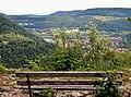 Ausblick auf Lichtenstein vom Schwäbische-Alb-Nordrand-Weg (Hauptwanderweg 1, HW 1), Albsteig ^ Schwarzwald-Schwäbische-Alb-Allgäu-Weg (HW 5) - panoramio.jpg