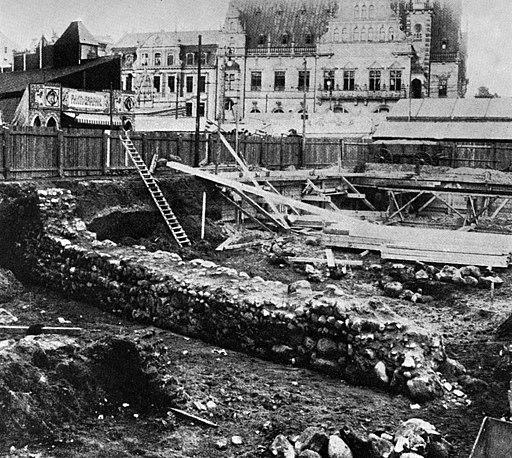 Ausgrabungen am Domshof - Bremen - 1909