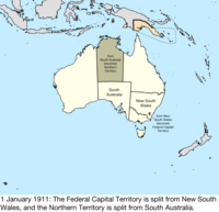 Map Of South Australia And Northern Territory.Territorial Evolution Of Australia Wikipedia