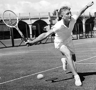 Lew Hoad - Lewis Hoad at age 15 competing at Kooyong in Inter State Tennis in 1949.