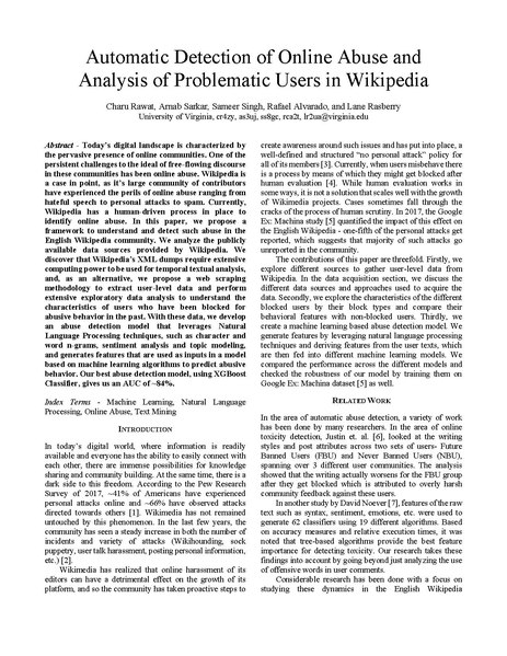 File:Automatic Detection of Online Abuse and Analysis of Problematic Users in Wikipedia preprint.pdf