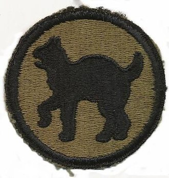 81st Infantry Division (United States) - Image: B1915 Francis Foley Wildcats Patch Insignia (WWII Division)