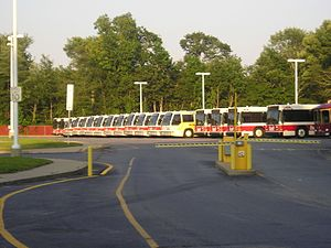 Brockton Area Transit Authority - Image: BAT bus yard, South Brockton