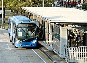 Masivo Integrado de Occidente - Image: BRT, santiago de Cali station