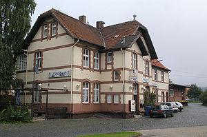 Gudensberg - Gudensberg's former railway station (2005)