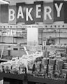 Bakery at Clark's, a grocery, drug, sundries, and department store and lunch counter, 3900 North Independence Boulevard, Charlotte, NC, c.1962 or 1963. From the General Negative Collection, North (6876068567).jpg