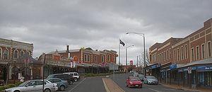 Bakery Hill, Victoria - Ballarat Burrumbeet Road looking north east toward Bakery Hill Junction.