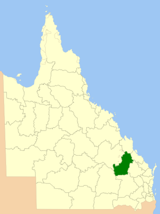 Shire of Banana - Location within Queensland