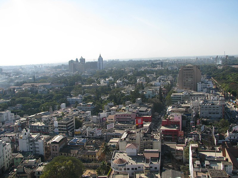 File:Bangalore Aerial view from MG road Utility Building 3.jpg