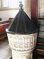 Baptismal Font, Nempnett Thrubwell Church, Somerset - geograph.org.uk - 434726.jpg