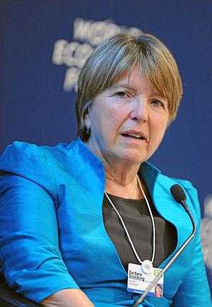 Barbara Stocking - Stocking at the World Economic Forum Annual Meeting in 2012