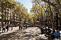 Barcelona - Rambla de Canaletes - View SSE on 'Pilar' 12 October Spanish National Holiday.jpg