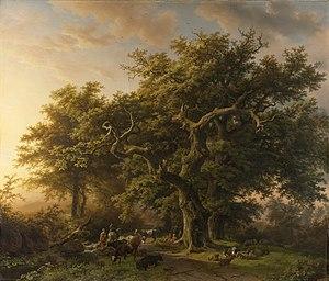 """Barend Cornelis Koekkoek - """"Forest scene"""" (1848); Rijksmuseum, Amsterdam"""