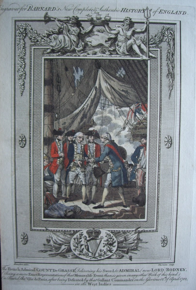 Barnard's History of England - Rodney accepts the surrender of deGrasse