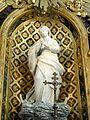 Baron (60), église Saint-Pierre-et-Saint-Paul, retable du maître-autel, statue de la Vierge.JPG