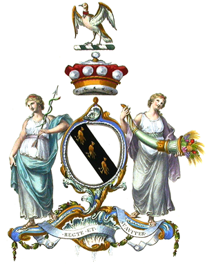 Viscount Scarsdale - Arms of the Barons Scarsdale