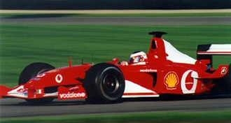 Rubens Barrichello - Barrichello in his Ferrari at the 2002 United States Grand Prix